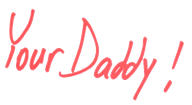 Print Red Your Daddy clear background